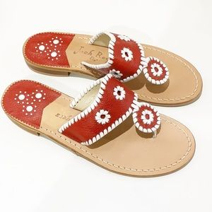 New Red Jack Rogers Sandals